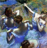 Blue Dancers Huge Oil Painting On Canvas Home Decoration Han...