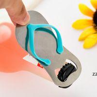 Creative Beach Flip-Flop Shoes Shape Openers Beer Bottle Opener With Gift Box Wedding Favor Gifts HWE9676