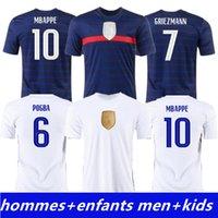 أعلى جودة كرة القدم جيرسي البنزيما 100th hommes enfants Lemar mbappe grizmann فرنسا pogba giroud kante quips mailleots كرة القدم قميص الزي la 2021 الرجال + أطفال عدة