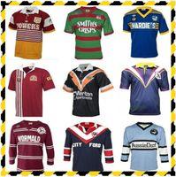 Retro Rugby Jersey Brisbane Broncos Südsydney Rabbitohs West Tiger Holden Blues Parramatta Aels Sea Eagles Maroons Malou Haie