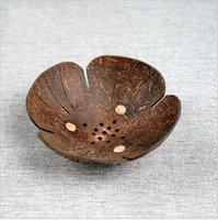 Creative Conch Shell Jabón Estante de jabón en forma de mariposa con forma de jabón de coco de cartoon caja de jabón del sureste asiático de madera cáscara de cacón de madera plato 1188 v2