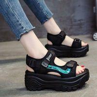Sandals 2021 Summer Platform Women's Shoes Buckle Slides Casual Sports Sandalia Mujer