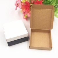 Gift Wrap Kraft Paper Candy Box Square Shape Wedding Favor Party Supply Packaging Bag 50pcs