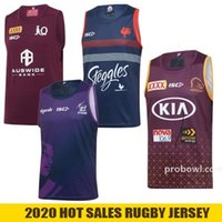 2020 2021 Fashion Rugby Vest Australia Melbourne Storm QLD Maroons Maglie di Rugby Brisbane Broncos Sydney Rooster Nrl Rugby League Jersey