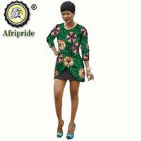 Afrika Shirt Jurk voor Woman Wax Printed Street Warp Summer African Tops Office Lady Bazin Dashiki Kleding S2024017 Damesjassen