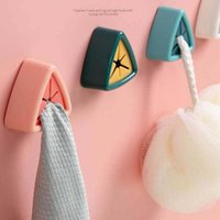 Hooks & Rails Towel Plug Holder Bathroom Organizer Rack Punch Free Towels Storage Wash Cloth Clip Kitchen Accessories Tool