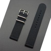 Bandes de montre Mr Neng imperméable de bonne qualité Epaisse Nylon d'extérieur Tissu Tissu 24mm 22mm 20mm 18mm Black Green Band NATAN