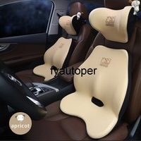 Quality Car Headrest Neck Support Seat Breathable Guard Lumbar Pillow Auto Memory Cotton Protector Cushion Car Head Pillow