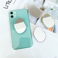 INS Special Shape Irregular Mirror Phone Mounts Socket For Smart Iphone Huawei Samsung Grip Contraction bracket