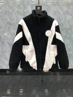 Inverno di alta qualità nuovi uomini cappotti di lana di agnello lana calda cachemire giacca moda moda tendenza tessuto cotone allentato a colori splicing mens e donna m-xxl 2021