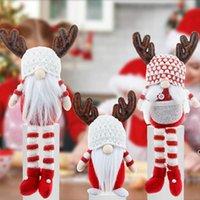 Noël gnome sans visage santa xmas arbre suspendu ornement poupée décoration maison pendentif cadeau goutte ornements fournitures FWB8826