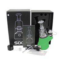 Original Soc ENAIL Kit 2600mAh TC Vape Mod com cera Atomizador Concentrado Shatter Budder Dabber Rig