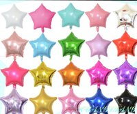 18 inch Star Shape Aluminum Inflatable Foil Balloons for Birthday Party Decorations Helium Balloon Globos Wedding Decoration GC463