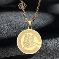 Pendant Necklaces 12 Constellation Virgo Necklace For Women Zodiac Sign Gold Stainless Steel Jewelry Charm