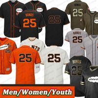 Hombres Mujeres Jóvenes Barry 25 Bonos Jersey Replica Azul Alterno Alterno Base Cool Base Baseball Jerseys Color Negro Gris Blanco Naranja Beige Wear