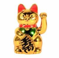 2021 Chinese gelukkige kat rijkdom zwaaien kat goud zwaaien hand feng-shui lucky maneki neko schattige home decor welkom zwaaiende kat groothandel