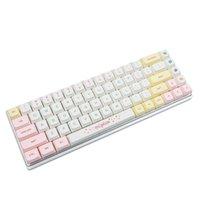لوحات المفاتيح YMDK 146 مفتاح معكرون صبغ فرعية ZDA الكرة شكل PBT Keycap مشابهة ل XDA ل MX Keyboard 104 87 61 Melody 96 KBD75 ID80 GK64 SP84