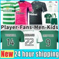 2021 2022 Celtic Soccer Jerseys Vende Versão do jogador 21/22 McGregor Griffiths Edouard Brown Duffy Turnbull Christie Encyounouussi Camisa de Futebol Homens Kit Kit uniforme