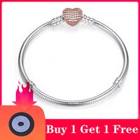 High Quality Authentic Sier Color Snake Chain Fine Bracelet Fit European Charm for Women DIY Jewelry Making