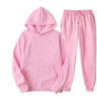 New autumn sets of two hoodies + harajuku pants sport casual male female suits sweatshirt