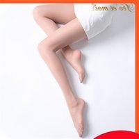 Femo Liengerie Sexy 0D Art Super Thin Открытая промежность цельных шелковые чулки Голая нога артефакт 7348
