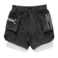 الرجال قصيرة الصيف الرجال اللياقة كمال الاجسام رجل تنفس شبكة رياضية عداء ببطء السراويل الجري كرة السلة السراويل ASRV