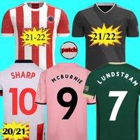 En Tay 2021 2022 Sheffield Futbol Formaları Berge Mousset 20 21 22 McBurnie Lundstram Fleck Norwood Keskin Kitleri Futbol Gömlek