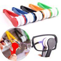 Multiful cores mini óculos de dois lados escova microfibra limpador tela de óculos esfregar espetáculos limpar limpar ferramenta de óculos de sol YL0305