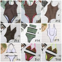 Mezcla 20 estilos Traje de baño Clásicos Bikini marrón Set de mujer Traje de baño de moda en stock Vendaje Sexy trajes de baño con etiquetas de almohadillas