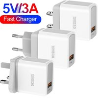5V 3A QC3.0 Fast Quick Charger Eu US UK AC Power Adapter Wall Chargers For IPhone 6 7 8 11 Samsung Htc pc mp3