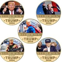 I WILL BE BACK TRUMP 2024 RE-ELECT Coin President Donald Trump Anti Never Joe Biden Fake Money MAGA US Presidential Election Products G5765QS