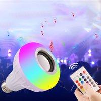 12 W Güç E27 LED RGB Bluetooth Hoparlör Ampul Işık Lambası Müzik Uzaktan Kumanda Crestech ile Aydınlatma
