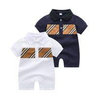 Sommer Baby Kurzarm Strampler Baumwolle Kleinkind Plaid Overalls Infant Kids Onesies Neugeborenen Kleidung Nachtwäsche