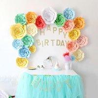 Decorative Flowers & Wreaths 1pcs 30cm DIY Artificial Paper Wedding Decoration Backdrop Happy Birthday Party Crafts Event Supplies