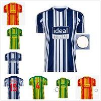 20 21 22 Albion Home Soccer Jersey 2021 2022 Futebol Camisa Kit Camiseta de Futbol West Brom Homens Robson-Kanu Uniforme