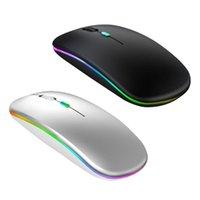Mice Creative Optical Ultra-thin Mute Wireless Mouse 1600dpi Ergonomic Design RGB