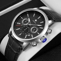 Наручные часы WWOOR 2021 Лучшие Мужские Кожаные Часы Классический Деловой Календарь Хронограф Водонепроницаемый Кварц Reloj Hombres