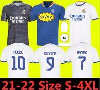 21 22 레알 마드리드 축구 유니폼 키트 2021 2022 Sergio Ramos Hazard Jovic Vinicius Benzema Modric Football 셔츠 아동 유니폼
