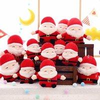 Decoración navideña Santa Muñecas de peluche juguetes rellenos Lindo Santa Claus suave peluche juguete niños regalos adorable muñeca regalo BWB11406