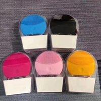 Struttura per il viso del silicone elettrico Strumento di pulizia Strumento di pulizia Massaggiatore Faccia Cleaner 5 Colori disponibili