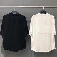 2021 футболка для мужчин Летние MES футболка мода прилив рубашки писем печатать повседневные мужчины женщины экипаж шеи продажи размер S-XL