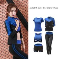 Newoutfit,shaping Women's Sportwear Solid Yoga Sport Suit Breathable Gym Set Female Bra T-shirt Shorts Pants Workout Fitness Clothes Tracksuit