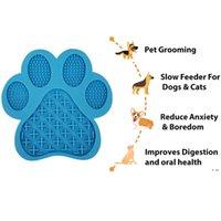 Köpek Yalama Mat Yavaş Besleyici Banyo Dikkat Distraksiyon Pedleri İmkanlar, Anksiyete Rölyef, Bakım, Evcil Hayvan Eğitimi HWE5710
