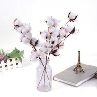 Coton naturellement séché Stems Ferme Fleur Artificielle Fleur Fleur Décor Floral Faux Fleurs Diy Garland Accueil Fournitures de mariage DHD6283