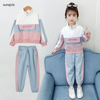 Girl Sports Suit 2021 Autumn Outfit Sets For Girls Coat +pants 2pcs Children Clothing Kids Clothes Baby Spring Outwear