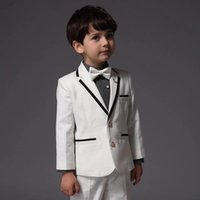 Men's Suits & Blazers Wedding For 2021 Kid White Boy Tuxedos Custom Made Boys Children Suit Slim Fit Two Button Jacket+pants