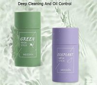 Neue Fashional Green Tee Reinigung Massivmaske Tiefs Saubere Schönheit Haut Greenteas Feuchtigkeitsspendende Hydratisierung Gesichtspflege Gesichtsmasken Peelings Lila Fall