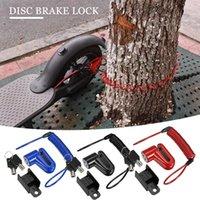 Bike Locks Bicycle Scooter Disc Brake Lock Brakes Wheels Locker Anti-theft Steel Wire Reminder Cable Motorcycle Accessories