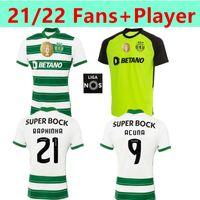 SPORTING CP 2021 2022 LISBOA Soccer-Trikots Drittel White Lissabon Vietto coates ACUNA Home Away Sporting Clube de Football Hemd Maillots Spielerversion