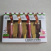 1 adet Noel Hediyesi Makyaj Dudak Parlatıcısı Tatlı Koku Ikincileri Sıvılaştırılmış Ruj Seti 4 Renkler Erted Mat Lipgloss Kiti